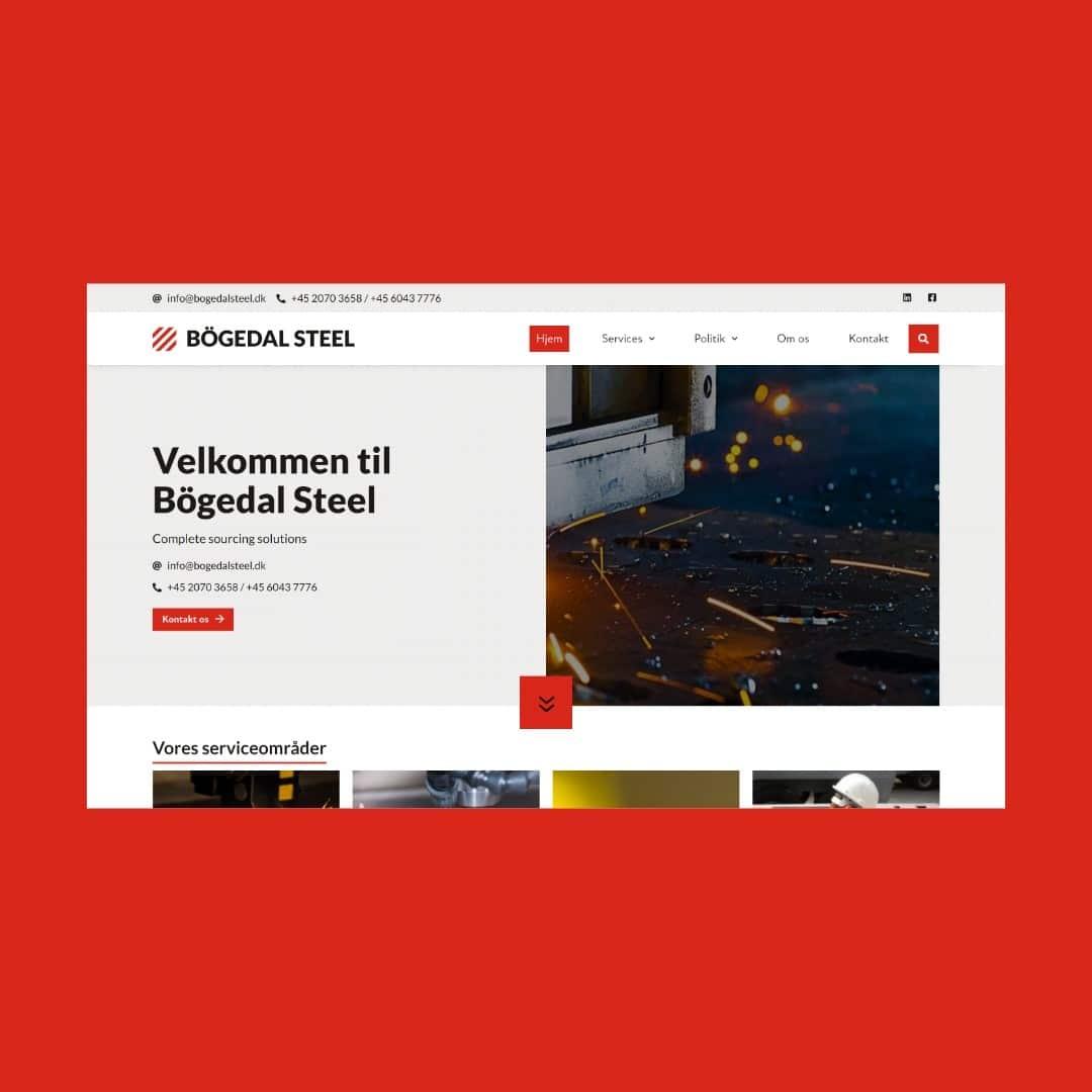 Bögedal Steel hjemmeside